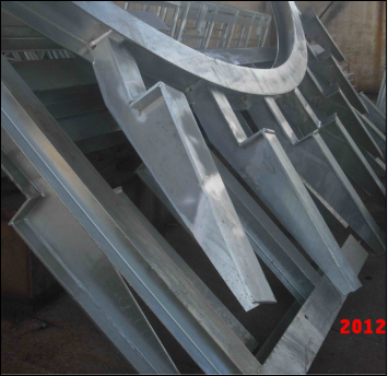 Steel Supportfor Glass Canopy